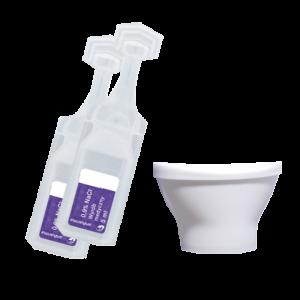 Eye wash bottles 0.9% NaCl Solution 2x10ml